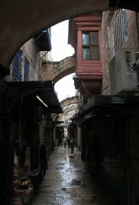 Street in the Old City of Jerusalem.