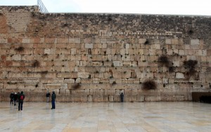 The Western Wall (a 57-meter exposed section of the original western flank of the Temple Mount, the holiest site in Judaism).