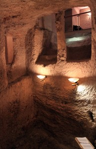 Inside the Sacred Pit - the dungeon where Christ was held.