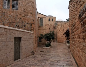 Street outside of the Church of Dormition.