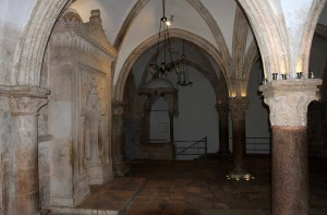 Inside the Cenacle, where the Last Supper occurred.