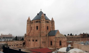View of the Church of Dormition from the rooftop of the Cenacle.