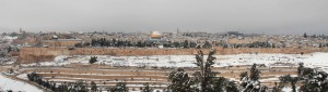 View of Jerusalem from the Mount of Olives.