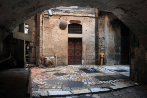 The Seventh Station of the Cross, where Jesus fell the second time.