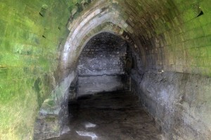 The giant cistern (the Struthion Pool) underneath the Ecce Homo Convent.
