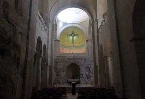 Inside the Ecce Homo Church.