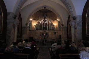 Inside the Church of Flagellation.