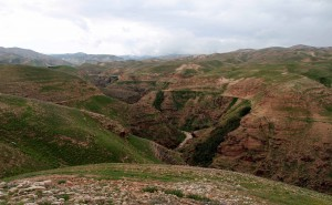 Wadi Qelt, which many imagine to be Psalm 23's Valley of the Shadow.