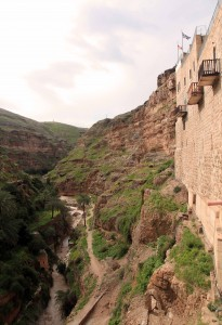 Looking at the wadi from the monastery.