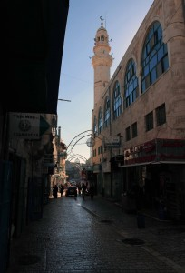 Street in Bethlehem, approaching Manger Square.