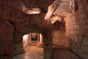 Inside the Milk Grotto Church.