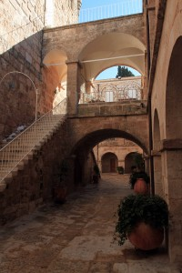 The Greek Orthodox monastery adjacent to the Church of the Nativity.