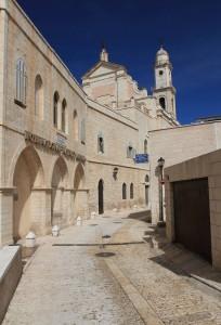 Street in Bethlehem, next to the International Nativity Museum.