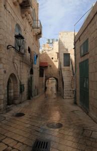 "The Old Gate (""Qoos Az Zarara"") in Bethlehem."