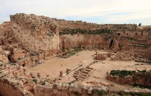 The mountain palace-fortress ruins at Herodium.