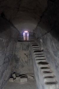 A large cistern underground at Herodium.