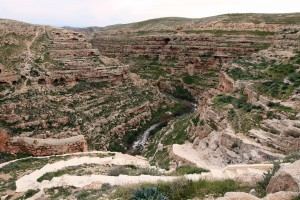 Another view of the Kidron Valley from Mar Saba.