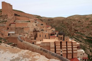 "Mar Saba (also known as the ""Holly Lavra of Saint Sabbas the Sanctified""), a Greek Orthodox monastery."
