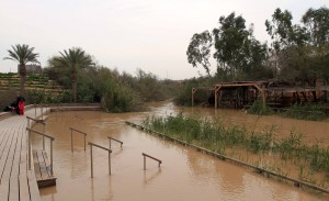 The Baptism site of Jesus Christ on the Jordan River, near Bethany.