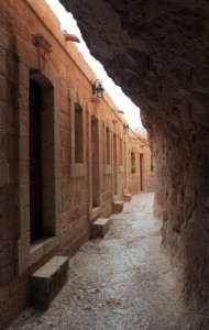 Inside the Monastery of Temptation, built on the slopes of the Mount of Temptation, where, according to tradition, Satan tempted Jesus for the third time.