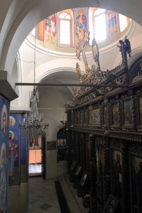 Inside the chapel in the Monastery of Temptation - a Greek Orthodox monastery.
