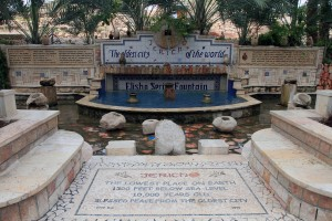 Fountain in front of Tell es-Sultan (the archaeological site of ancient Jericho).