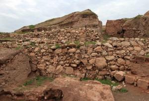 Ancient walls of Jericho at Tell es-Sultan.