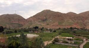 The Mount of Temptation (center).