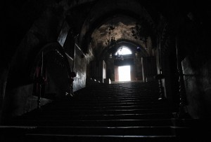 The entrance to Mary's Tomb, seen from the inside.