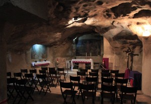 The Grotto of Gethsemene; it is here where Jesus Christ was betrayed by Judas Iscariot.