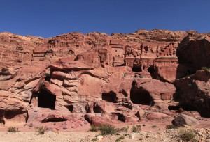 More tombs and dwellings.