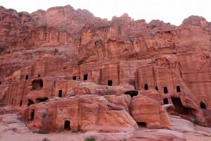Ancient dwellings at Petra.