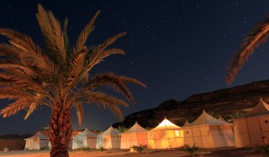 The tents at the Bedouin Resort.