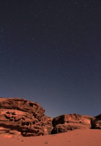 One last photo of the stars and sand at night.