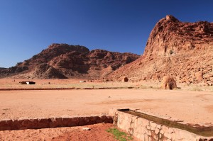 Lawrence's Spring in Wadi Rum (named so, because this is one of the filming locations of 'Lawrence of Arabia').