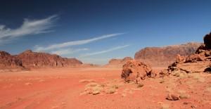 Desertscape in Wadi Rum.