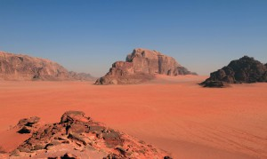Looking at Wadi Rum and Khor el Ajram.