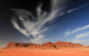 The clouds over Wadi Rum.