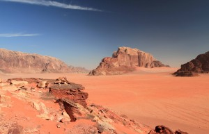 Another view of Wadi Rum and Khor el Ajram.