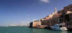 Jaffa Port, with Tel Aviv in the background.