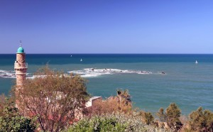 Andromeda's Rocks, where, according to Greek mythology, the king of Jaffa offered his daughter, Andromeda, as a sacrifice to assuage the anger of Poseidon; however, Perseus killed the sea monster sent by Poseidon and married Andromeda.