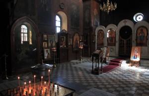 Inside St. David's Church.