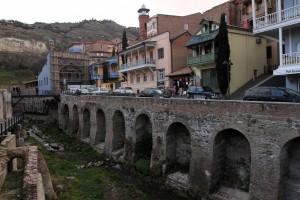 Abanotubani - the sulfur bath district in Tbilisi.