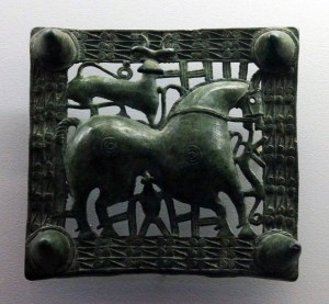 Bronze buckle from between the first- to fourth-centuries AD.