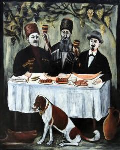 """Carousal in Vine Parasol"" by Niko Pirosmanashvili (1862-1918)."