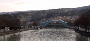The Peace Bridge over the Kura (Mtkvari) River.