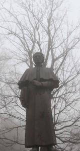 Statue of Solomon Dodashvili, a philosopher.