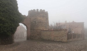 Entrance through the old eighteenth-century city walls of Sighnaghi.