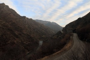 The Debed River and the road to Yerevan.