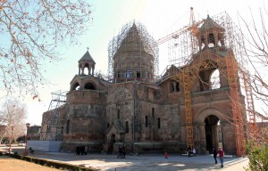 Etchmiadzin Cathedral - the first cathedral built in Ancient Armenia and the oldest cathedral in the world.